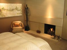 Bedroom fireplace #romantic by Flying Turtle Cast Concrete
