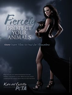 Kate del Castillo Fiercely Protects Animals #celebs #peta #animalrights