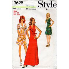 Hey, I found this really awesome Etsy listing at https://www.etsy.com/listing/232691103/1970s-wrap-dress-pattern-style-3625