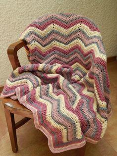 Hecha con amor para Victoria mi nieta!!! Grochet stripped Afghan, Tejer gancho cobija niña
