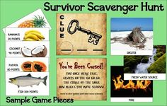 Outdoor Survivor Scavenger Hunt Games!