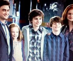 """My children are adorable. My children are fantastic. They're wonderful, sweet, all of them..."" — Daniel Radcliffe on his epilogue children"