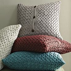 Sweater pillows...great way to recycle!