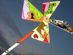 Deko-Objekte - Windrad mit künstlerischen Akzenten - ein Designerstück von n8kunst-z-wergk bei DaWanda