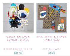 #spaceship #balloons #ecogifts Party Bags, Party Gifts, Boy Birthday, Birthday Parties, Rocket Cake, Alien Party, Bubblegum Balloons, Outer Space Party, Star Wars Party
