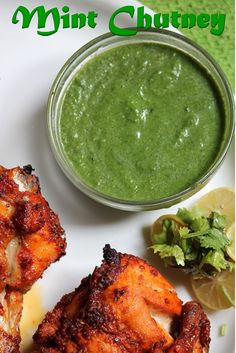 This is the chutney which i was talking about in my tandoori chicken .I already have two version of mint chutney.A mint chutney whic. Veg Recipes, Indian Food Recipes, Asian Recipes, Vegetarian Recipes, Chicken Recipes, Cooking Recipes, Healthy Recipes, Mint Chicken Recipe, Recipies