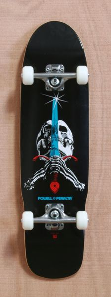 "Powell 29.75"" Skull and Sword Mini Skateboard Complete"