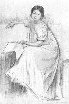 Soñadora con libro, de Ramón Casas Carbó - Les Peintres Catalans à Montmartre 1880-1900 Cool Art Drawings, Pencil Art Drawings, Ramones, Spanish Artists, Sketch Painting, People Art, Woman Painting, Figure Drawing, Love Art