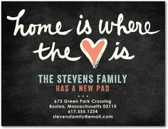 Heart of the Home - Moving Announcement Postcards - Hello Little One - Sea Glass - Green | www.TinyPrints.com