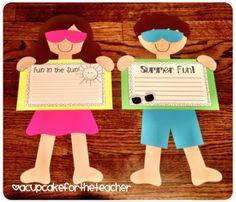 A Cupcake for the Teacher: Summer Kids {a Craftivity} End of school year idea