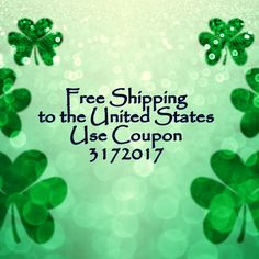 We are having a Saint Patricks Day Sale. For 10% off use the Coupon Code 3152017. To get Free Shipping use the code to the right or 3172017. The Sale is for the weekend. You get 10% off the LISTED PRICE PLUS FREE SHIPPING. That is a good deal. See you at And check out our vintage jewelry blog that we are putting together at www.CCCsVintageJewleryBlog.com Have a great weekend. Best, Coco