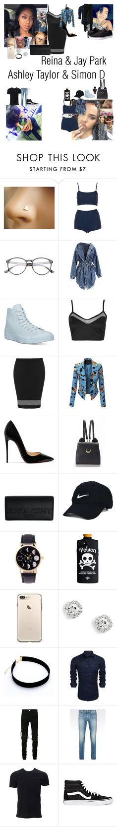"""No one But you"" by teylorann on Polyvore featuring Topshop, Converse, LE3NO, Christian Louboutin, WithChic, Givenchy, Nike Golf, AMIRI, Armani Jeans and Vans"