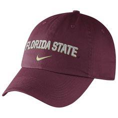 Florida State Seminoles Nike Heritage 86 Wordmark Swoosh Adjustable Hat - Garnet