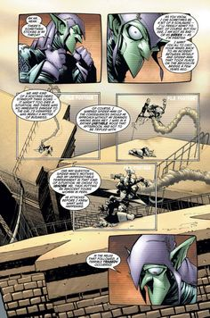 """The Green Goblin's video in the """"Death in the Family"""" arc in Peter Parker Spider-Man Ms Marvel, Captain Marvel, Marvel Comics, Spectacular Spider Man, Amazing Spider, Norman Osborn, Super Soldier, Spiderman Art, Splash Page"""
