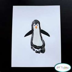 Preschool Crafts for Kids*: Penguin Footprint Craft