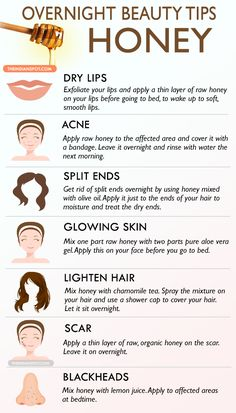 - Healthy Tips & Hacks - Overnight Beauty Tips with Honey - 14 Beneficial Beauty Tips for Face and Body C. Overnight Beauty Tips with Honey - 14 Beneficial Beauty Tips for Face and Body Care to Beautify Yourself from Head to Toe Beauty Tips With Honey, Beauty Tips For Face, Health And Beauty Tips, Beauty Secrets, Health Tips, Face Tips, Beauty Ideas, Beauty Guide, Natural Beauty Tips