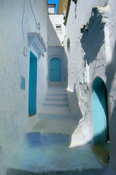 The Blue City - Chefchaouen - Morocco Space Architecture, Beautiful Architecture, Beautiful Landscapes, Most Beautiful Cities, Beautiful World, Watercolor Projects, Blue City, Moroccan Design, World View
