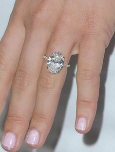 Pin for Later: The 12 Most Gorgeous Engagement Rings Given in 2015 Julianne Hough Wearing a Lorraine Schwartz seven-carat oval ring mounted in a thin platinum band with pave diamonds.