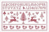 Grilles et diagrammes; free counted cross stitch Christmas alphabet sampler