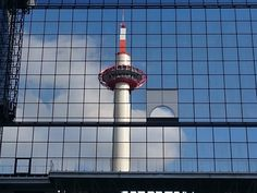 Sketch On Kyoto: Reflected Kyoto Tower Kyoto Station Building, Shimogyō-ku, Kyōto SONY XperiaZ3 京都駅ビル(京都市下京区烏丸通塩小路下る)