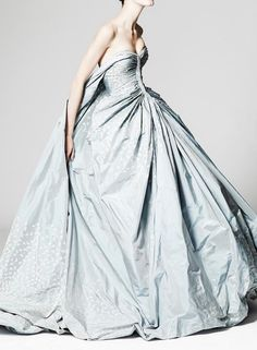 { Zac Posen Resort 2014 - blue wedding dress }