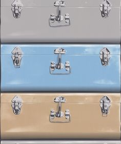 Suitcase Grey wallpaper by Galerie
