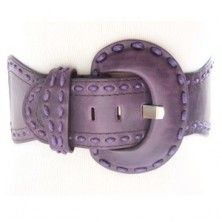 Royal Purple Elastic and Leather Wide Stretch Belt For Women with Bold Stitching $17.50 http://www.keepyourpantson.com/new-arrivals