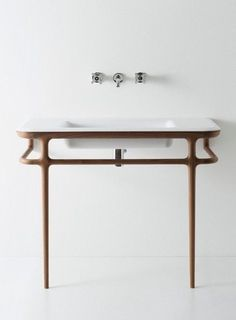 Fun bathroom styles and decor - Searching for bathroom design ideas? Impressive bathroom furnishings can give a grandiose style with the appropriate design ideas. Click the link to read more. Estilo Interior, Home Interior, Bathroom Interior, Wooden Bathroom, Small Bathroom, Bathroom Sinks, Marble Bathrooms, Washroom, White Bathroom