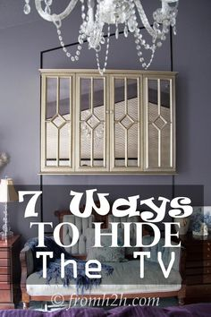 If you don't like looking at a TV (even a flat screen) in your room, check out these 7 ways to hide it | 7 Ways To Hide The TV | www.fromh2h.com