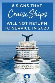 While we want cruising to restart as soon as possible, there are several signs indicating that cruising will not resume in 2020. Here's why! Packing For A Cruise, Cruise Travel, Cruise Vacation, Vacations, Best Cruise, Cruise Port, Cruise Tips, Cruise Excursions, Cruise Destinations