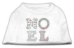 Noel Rhinestone Dog Shirt White XS (8)
