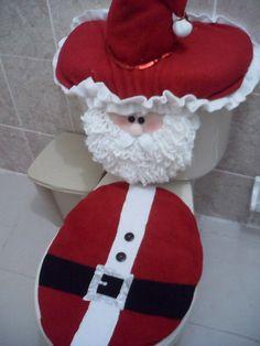 bathroom santa