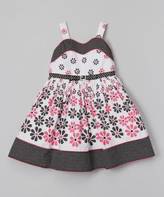 This Sweet Heart Rose Pink & White Daisy Sweetheart Dress - Toddler & Girls by Sweet Heart Rose is perfect! #zulilyfinds