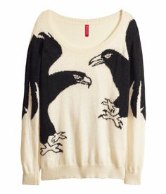 H&M Knitted jumper $19.95 Love crows
