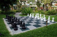Giant Chess board for the garden....I will sooo have one of these some day!