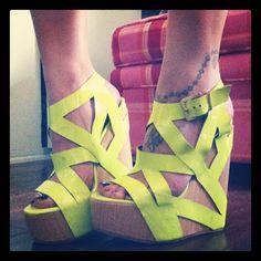Neon Wedges  -  YUM!