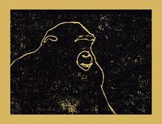 Michael Shepherd. Block Print .Gorilla.