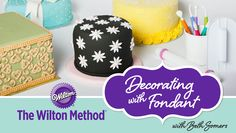 Get rolling with Wilton & Craftsy! Learn to cover round, square & heart-shaped cakes in fondant. Create sweet fondant flowers, ribbons, bows & more! - via @Craftsy