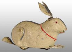 Tin Hand-Painted Rabbit Wind-Up Toy#Repin By:Pinterest++ for iPad#