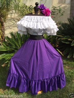MEXICAN DRESS FIESTA,DAY OF THE DEAD,5 DE MAYO,WEDDING OFF SHOULDER 2PC W/SASH