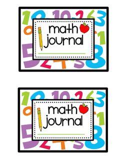 Teacher Bits and Bobs: first week of kindergarten math journals