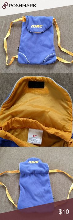 "Nike mini backpack This mini pack fit my 11"" MacBook snugly. I have no need for it anymore. Has a little pilling, but nothing a lint remover can't fix! Nike Bags Backpacks"