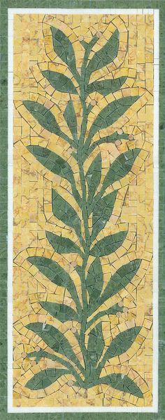 "Snowbush mosaic 12"" x 30"" by Appomattox Tile Art"