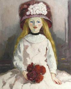 Kees van Dongen - Jeune fille au chapeau fleuri