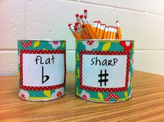 Music Class Pencil Container Labels - FREE PRINTABLE!