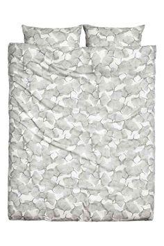 Komplet pościeli we wzory - Biały - HOME | H&M PL