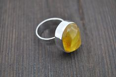 https://www.etsy.com/listing/576987866/silver-ring-with-yellow-baltic-amber?ref=shop_home_active_8 #jewelry #ring #yellow #birthday #yes #silver #women #stone #freeform