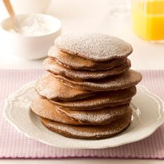 Mini-Chip Cocoa Pancakes Recipe from Taste of Home -- shared by Joyce Moynihan of Lakeville, Minnesota