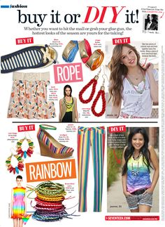 P.S.- I made this... with Seventeen Magazine:  June/July Issue