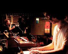 Radiohead's Thom Yorke and Jonny Greenwood in the studio